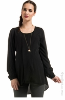 Noppies Maternity Toria Black Chiffon Top