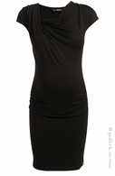 Noppies Maternity Cassandra Black Sheath Dress