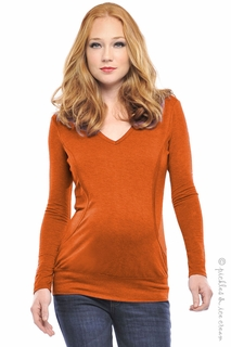 Maternity Clothes: Olian Maternity & Nursing Pumpkin Hoodie - Click to enlarge