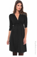Olian Black Grecian Dress
