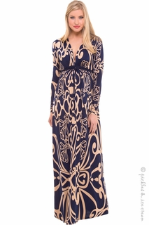 Maternity Clothes: Olian Arabesque Cary Maxi  - Click to enlarge