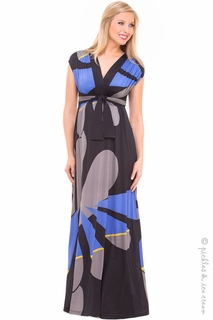 Maternity Clothes: Olian Tanjia Geo Maxi Dress - Click to enlarge