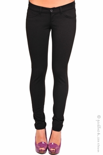 Maternity Clothes: Olian Maternity Black Skinny Pants  - Click to enlarge