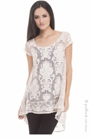 Olian Maternity Ivory Lace Hilo Top