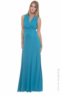 Olian Maternity Turquoise Maxi Dress