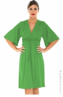 Olian Maternity Kelly Green Lycra Grecian Dress
