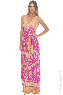 Maternity Clothes: Olian Maternity Luna Maxi Dress - Click to enlarge