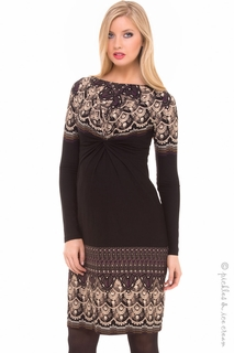 Maternity Clothes: Olian Maternity Bateau Camilla Dress - Click to enlarge