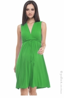 Olian Maternity Kelly Green Sleeveless Tieback Dress