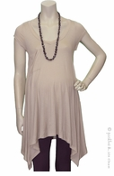Lane Tan Asymmetrical Swing Tunic
