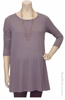 Blue Stripe Swing Tunic Tan