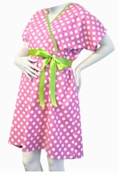 Push Pink & White Polka Dot Delivery Gown