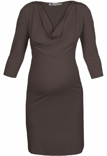 Maternity Clothes: Queen Mum Maternity Dark Grey Dress-Final Sale - Click to enlarge