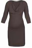 Queen Mum Maternity Dark Grey Dress-Final Sale