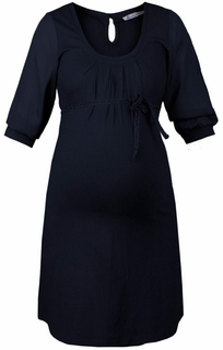 Queen Mum Maternity Dark Blue Glamour Dress - Final Sale