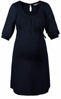 Queen Mum Maternity Dark Blue Glamour Dress