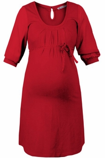 Queen Mum Maternity Red Glamour Dress - Final Sale
