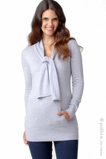 Maternity Clothes: Ripe Maternity Angora Knit Sweater Iced Blue-Final Sale - Click to enlarge