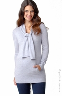 Ripe Maternity Angora Knit Sweater Iced Blue