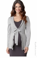 Ripe Maternity Frilly Cardigan Grey Marle