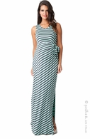 Ripe Maternity Mint & Grey Side-Tie Maxi Dress