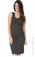 Ripe Maternity Black & Tan Mia Tank Dress