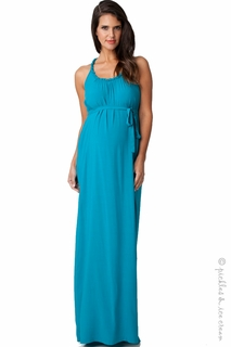 Maternity Clothes: Ripe Maternity Serena Aqua Maxi Dress  - Click to enlarge