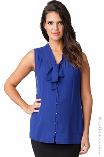 Maternity Clothes: Ripe Maternity Royal Blue Genevieve Top  - Click to enlarge