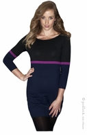 Ripe Maternity Single Stripe Tunic Cerise- Final Sale