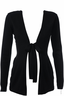 Maternity Clothes: Ripe Maternity Soraya Bowtie Cardigan Black - Click to enlarge