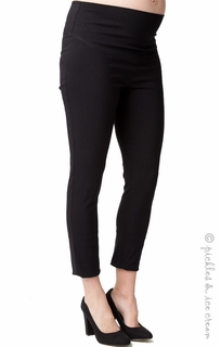 Maternity Clothes: Ripe Maternity Suzie Capri Pant Black - Click to enlarge