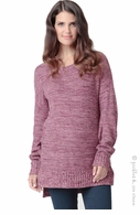 Ripe Maternity Weekend Knit Sweater Berry Sorbet- Final Sale