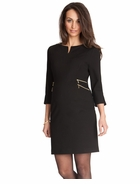 Seraphine Audrey Double Zip Dress Black