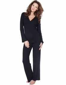 Maternity Clothes: Seraphine Camille Lounge 2 Piece Set Black - Click to enlarge