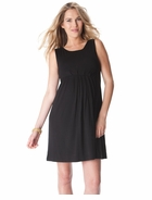 Seraphine Feliz Sleeveless Pleat Black Dress