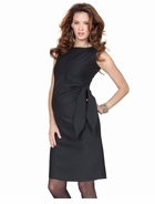 Seraphine Maternity Hermione Black Side Tie Shift Dress