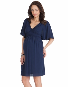 Maternity Clothes: Seraphine Maternity Christie Kaftan Dress Navy - Click to enlarge
