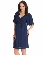 Seraphine Maternity Christie Kaftan Dress Navy