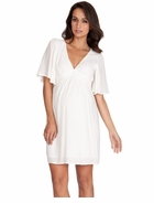 Seraphine Maternity Christie Kaftan Dress White