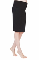 Seraphine Maternity Pencil Skirt Black