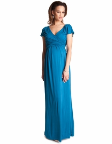 Maternity Clothes: Seraphine Maternity Lorraine Drape Maxi Dress - Click to enlarge