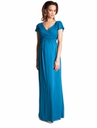 Seraphine Maternity Lorraine Drape Maxi Dress