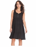 Seraphine Maternity Victoria Tier Dress Black