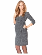 Seraphine Maternity Renata Polka Dot Mock Wrap Dress