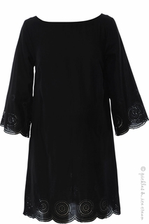 Maternity Clothes: Sono Vaso Marsala Dress Black-Final Sale - Click to enlarge