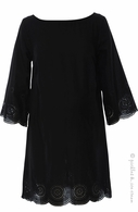 Sono Vaso Marsala Dress Black-Final Sale
