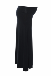 Maternity Clothes: Sono Vaso Maternity Alina Jersey Maxi Skirt Black - Click to enlarge