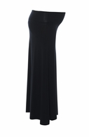Sono Vaso Maternity Alina Jersey Maxi Skirt Black - Final Sale