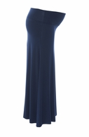 Sono Vaso Maternity Alina Jersey Maxi Skirt Navy - Final Sale