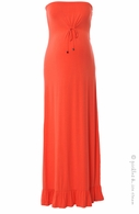 Sono Vaso Maternity Coral Ara Maxi Dress -Final Sale